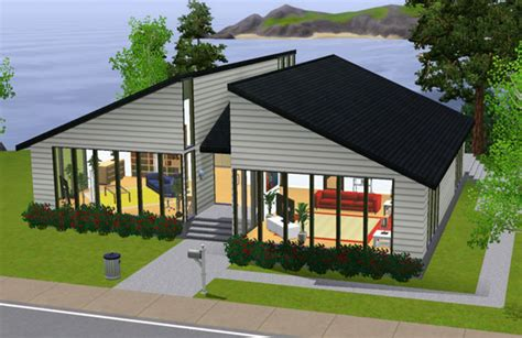 sims 3 maison au 2 toits small house with 2 roofs architecture maison house jeu