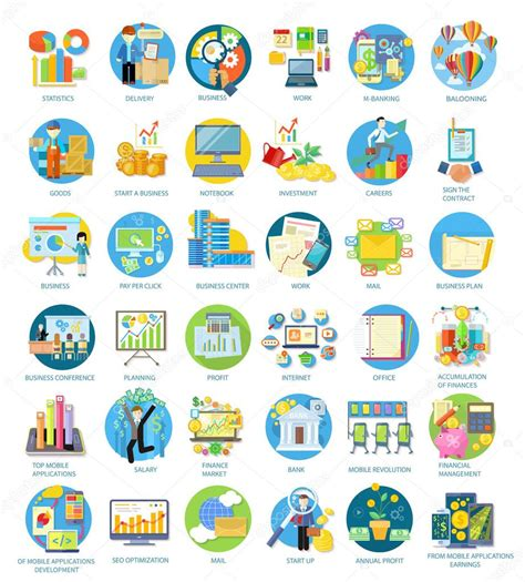 set of busines icons stock vector 169 robuart 73765139