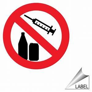 No Drugs No Alcohol Symbol Label LABEL-PROHIB-55-a-R ...
