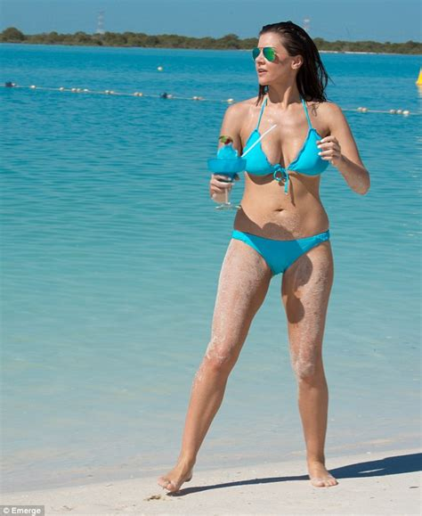 Imogen Thomas displays her curves in bikinis from her own line in Abu Dhabi   Daily Mail Online