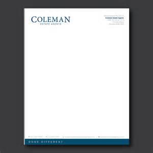 letterhead design letterhead design for coleman estate agents by dotnot design 4748691