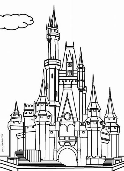 Coloring Pages Disney Printable Castle Getcolorings Col
