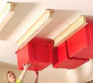 Rangement Plafond Garage : 28 super id es de rangement pour le garage ne ratez pas la n 25 ~ Melissatoandfro.com Idées de Décoration