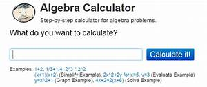 Online Algebra Solving Tool That Gives Step