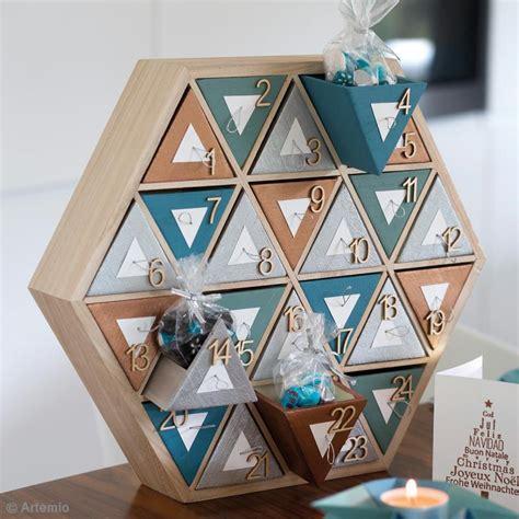 calendrier de l avent en bois 224 d 233 corer hexagone 36 5 cm calendrier de l avent creavea