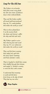 song for the ones poem by angelou