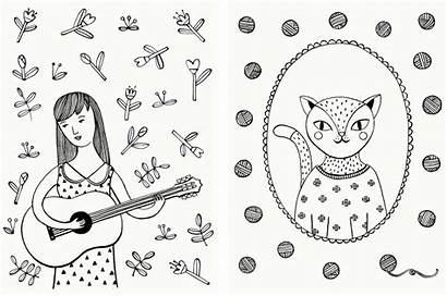 Stuff Coloring Pages Line