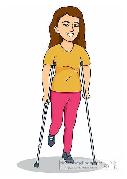Crutches Walking Clipart Crutch Health Clip Classroomclipart