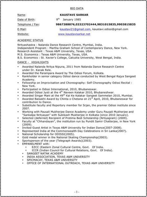 bharatanatyam dancer resume for free tidytemplates