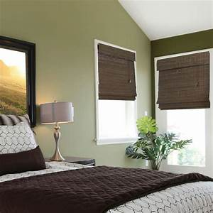 Home decorators collection espresso flat weave bamboo for 25 roman shade