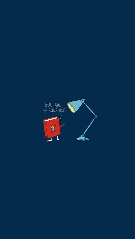 book lamp you are my sunshine android wallpaper free download