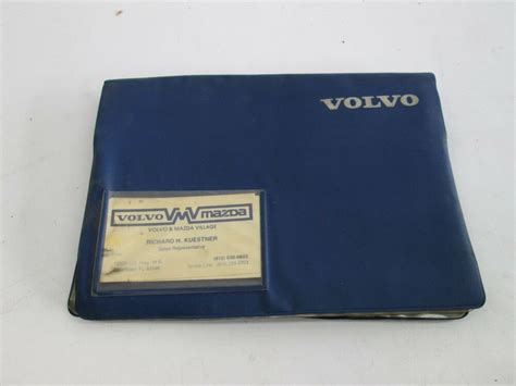 volvo   owners manual service manitenance