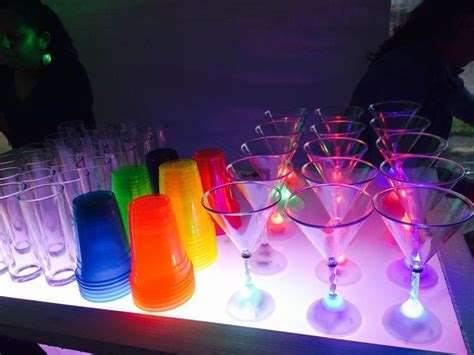 Set Up An Epic Drink Bar With Glowing Drink Glasses And