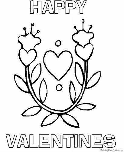 Coloring Valentines Pages Valentine Happy Sheets Flowers