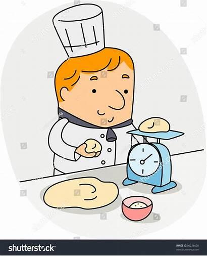Ingredients Weighing Baker Illustration Shutterstock