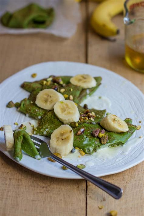 my green kitchen stories green pancakes bananas and honey lemon syrup my kitchen 3418