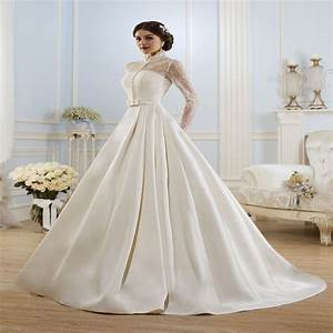 elegant long sleeve wedding dress muslim dress 2015 simple With elegant long sleeve wedding dresses