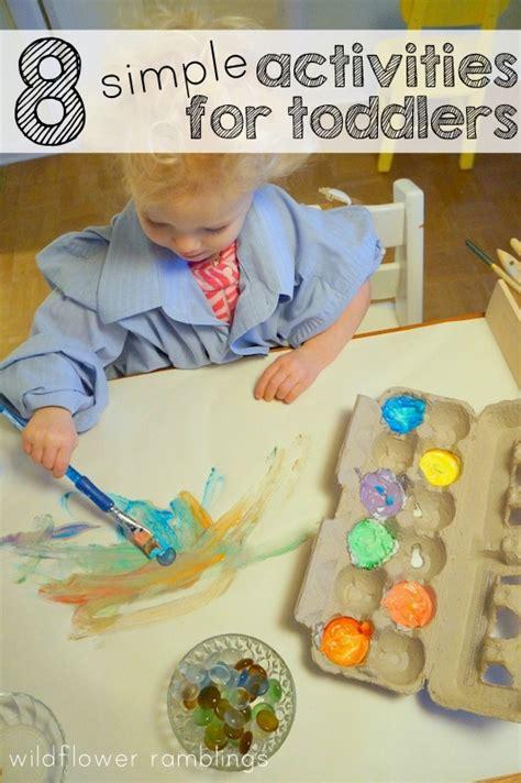 8 Simple Activities For Toddlers  Wildflower Ramblings