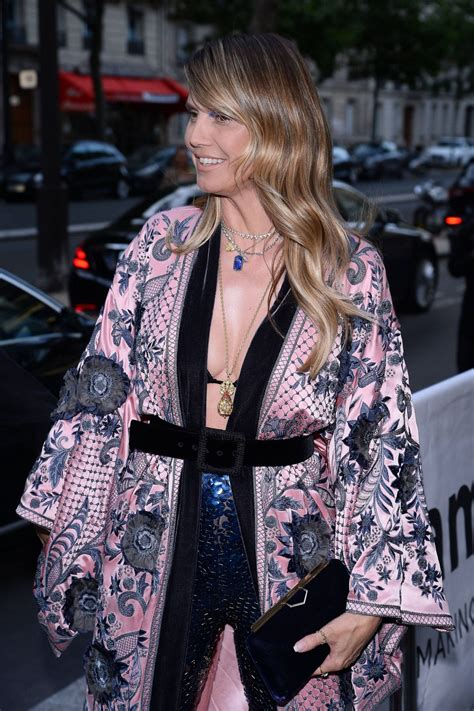 Heidi Klum Arrives Amfar Party Paris