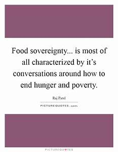 Food sovereignt... Food Poverty Quotes
