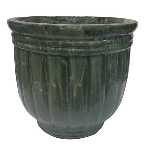 ceramic planters home depot 6 in beaded ceramic luminary planter ln00002n 080b the
