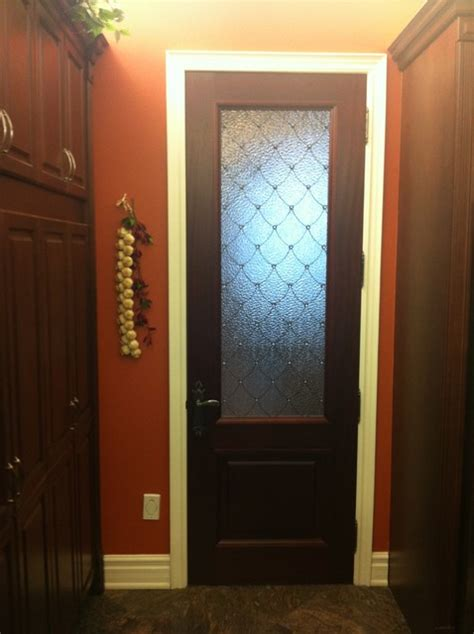 custom glass insert in an interior door