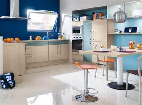 cuisine mur bleu bien choisir la couleur des murs de sa cuisine