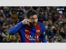 Leo Messi dedicates his 1st goal v Sevilla to campaign