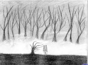 How to Draw Forest Drawing