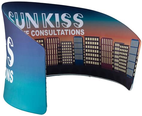 sloped exhibit banner stand  height