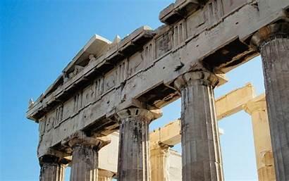 Ancient Architecture Acropolis Colonnade Greece Columns Pantheons