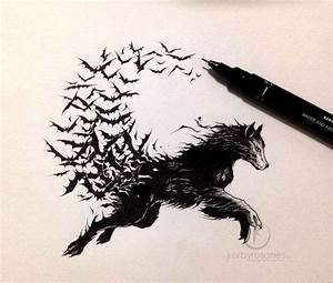 Tatouage Loup Graphique : pingl par lyneah k sur art pinterest tatouage loup ~ Mglfilm.com Idées de Décoration