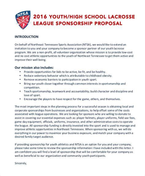 sponsorship proposal template  sports event  league