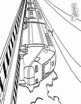 Train Coloring Pages Printable Subway Amtrak Railway Cliparts Sheet Freight Speed Gof Source Collections Craft Books sketch template