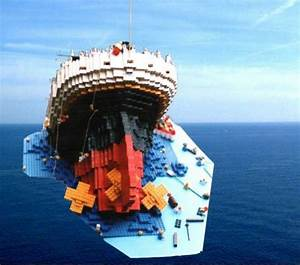 Sinking Titanic: A LEGO® creation by B. K. : MOCpages.com