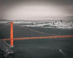 color of golden gate bridge san francisco bay and golden gate bridge in selective