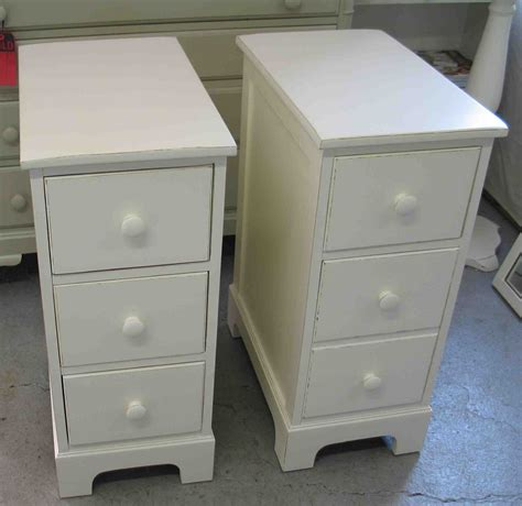 small white storage furniture small round white drum end table with two