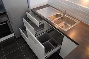 Poubelle Sous Evier Ikea : tiroirs sous vier avec poubelles int gr es evier 1 cuve ~ Dailycaller-alerts.com Idées de Décoration