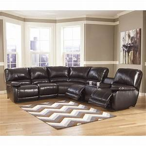 Signature design by ashley capote durablendr power for Sectional sofas with recliners ashley