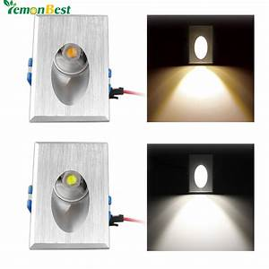 Led wall light w rectangle recessed porch pathway