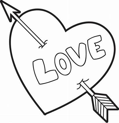 Coloring Heart Valentine Pages