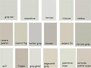 PAINT Benjamin Moore Greige Shades Gray Owl Moonshine