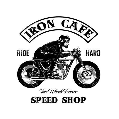 motorcycle helmet shop logo motorbike design vector free