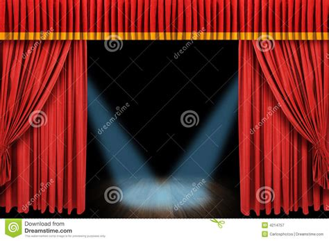 large red curtain stage royalty  stock photography