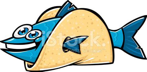 Cartoon Fish Taco Stock Vector