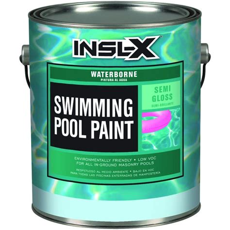 insl x 1 gal semi gloss acrylic black waterborne swimming
