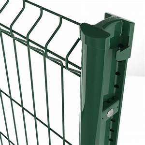 Panneaux Rigide Pour Cloture : poteaux bekafix de betafence pour panneaux rigides par ~ Edinachiropracticcenter.com Idées de Décoration