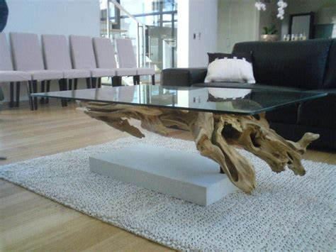 luxury glass top driftwood coffee table 96 in house