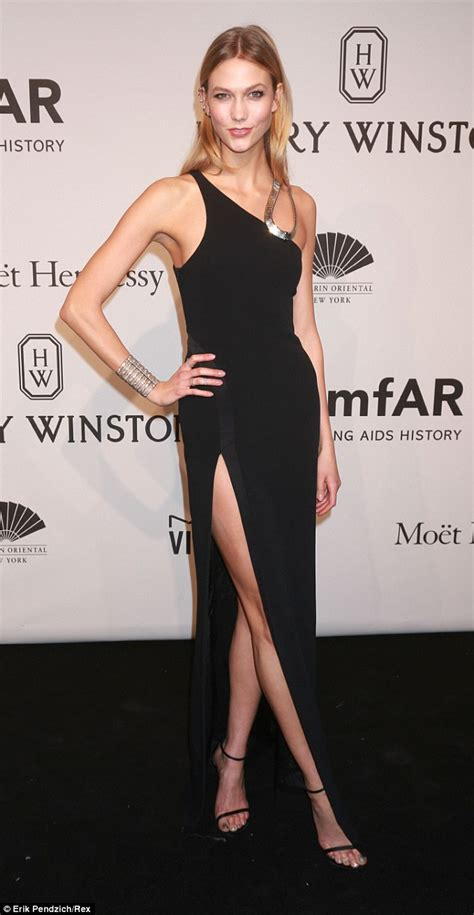 Karlie Kloss Flashes Toned Pins Daring Off The Shoulder