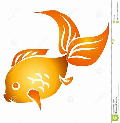 Goldfish Clip Isolated Fish Clipart Swimming Background
